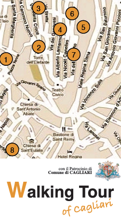 Itinerario del Walking Tour of Cagliari