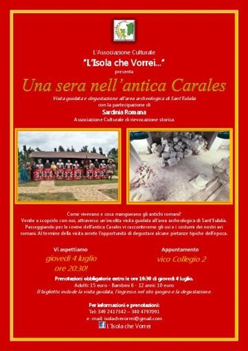 Locandina - Una sera nell'antica Carales ITA